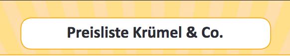 Neue Krümelpreise!